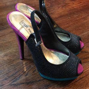 Steve Madden Masqraid rhinestone heels