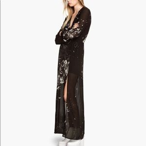 H&M Long Sleeve Slit Maxi Dress