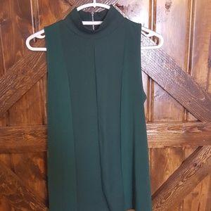 Emerald Green Sleevless Blouse- Medium