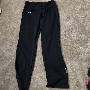 Black fitness sweat pants under armour