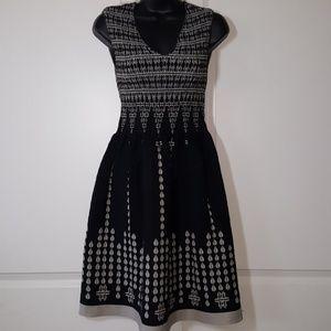 Max Studio smocked  V-neck dress