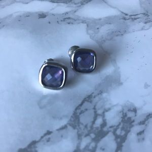 Silver and Amethyst Studs