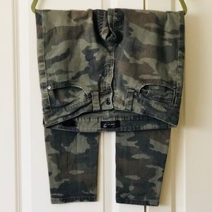 Seven7 skinny camo jeans