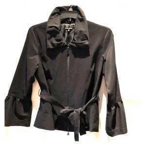 Bell sleeve Black stretch blazer