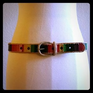 Accessories - VINTAGE rainbow belt