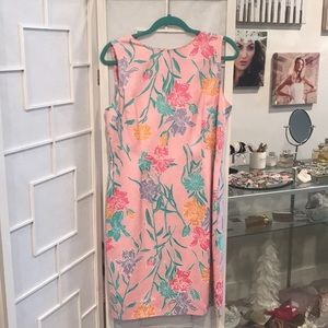 Silk Lilly Pulitzer Floral Dress