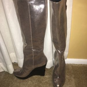 Silver DVF Wedge Boot
