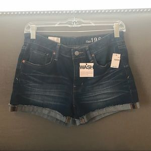Gap distressed denim shorts