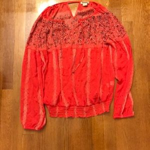 Lucky brand Vneck long sleeve