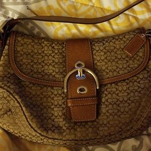 Coach purse monogrammed brown like new