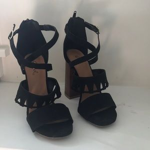 Qupid Heels with cut outs