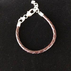 Brighton brown leather charm bracelet