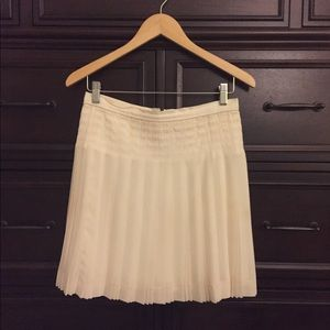 J Crew White Skirt with Pleats