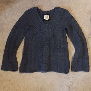 Chunky Knit Gray Sweater- Size S