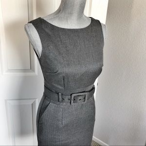 Banana Republic Petite Belted Gray Dress Size 0P