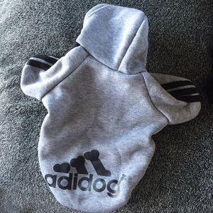 XS dog sweatshirt (Adidog logo)