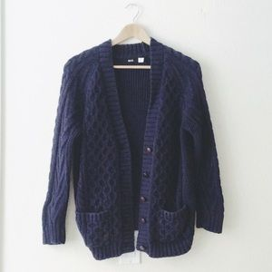 Urban Outfitters BDG navy V-neck cardigan