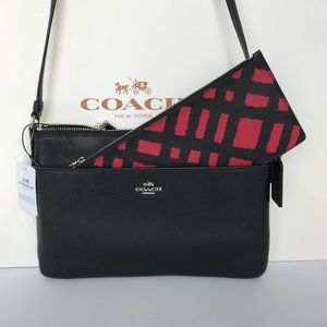 Coach E/W crossbody with pop up pouch