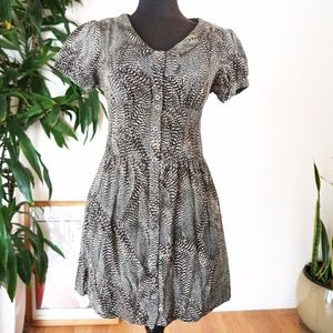 UO Kimchi Blue Animal Print Button Up Dress