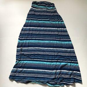 Merona Size XS Shades of Blue Maxi Skirt