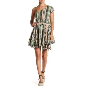 Free People Asymmetrical Shoulder Print Dress