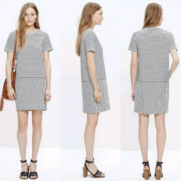 ce992875bec Madewell Dresses   Skirts - Madewell Dockside T-Shirt Dress Striped S C4469