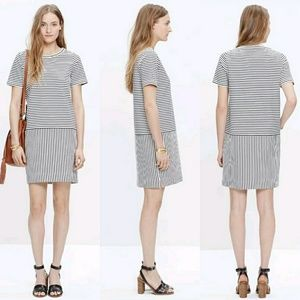 Madewell Dockside T-Shirt Dress Striped S C4469