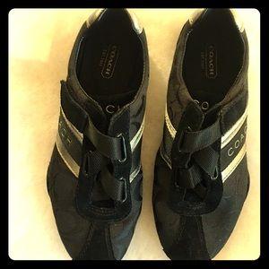 Coach Jenny shoes Velcro cris cross. EUC
