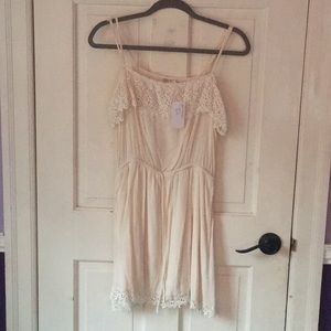 Cream, lace dress