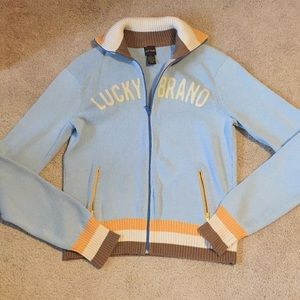 Vintage Style Luck Brand Sweater Jacket- Size M