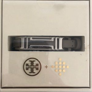 Tory Burch Silver Leather FitBit Bracelet