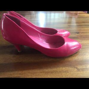 Hot Pink Kitten Heel