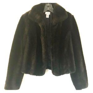 LOFT faux fur jacket