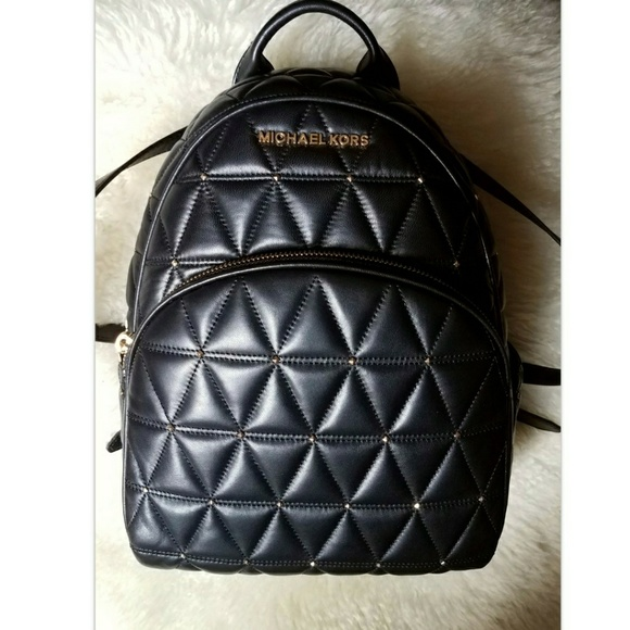 98ade72bdd3b SALE NEW Michael Kors Leather Backpack purse Black