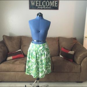 Merona Size 2 Green Drop Waist Midi Skirt