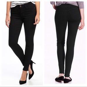 Old Navy Mid Rise Rockstar Skinny Black Jeans