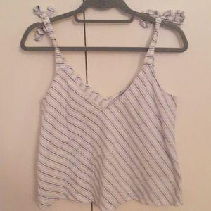 Zara Striped Tank Blouse XS