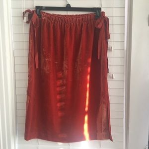 Pretty rust colored velvet skirt
