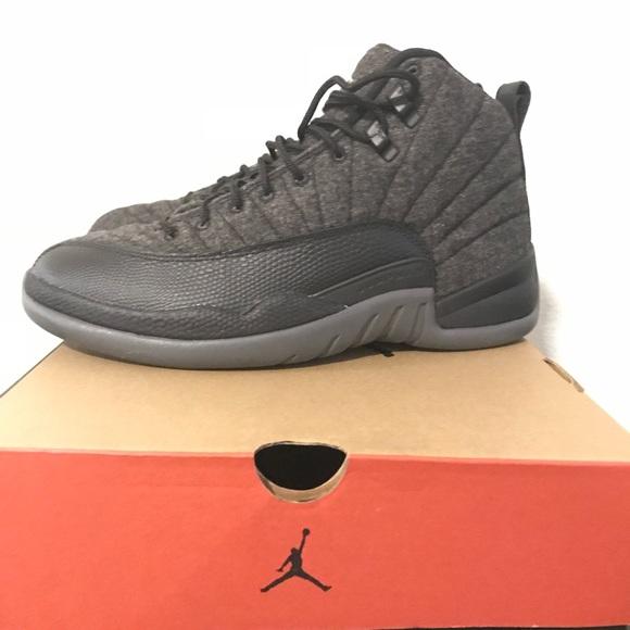 "pretty nice 6817c b45fb Jordan Retro 12 ""Wool"" Gray Silver Black Size 8"