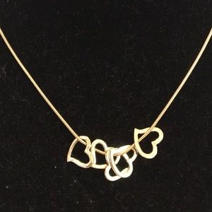 GOLD STATEMENT NECKLACE  NEW SNAKE CHAIN adjusts