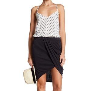 NWT Splendid Draped Rib Knit Tulip Skirt