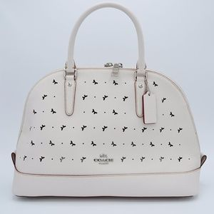 coach leather sierra in perforated crossgrain NWT!