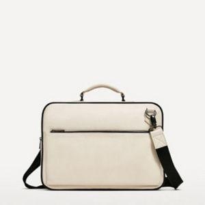 NWT Zara Laptop Messenger Bag