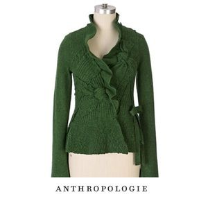 Anthropologie Moth Bow Accent Knit Cardigan