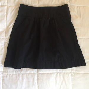 Black A-line high waisted skirt