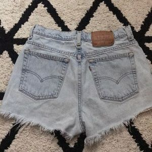 High waisted vintage Levi shorts!