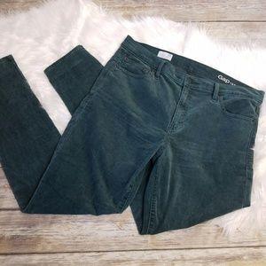 GAP 1969 Modern Stretch True Skinny Green Corduroy