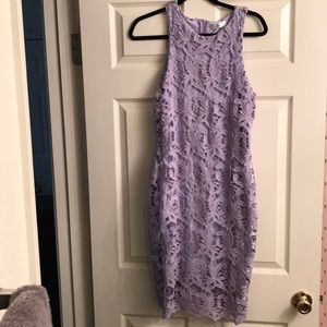 Missguided Lavender Lace Dress