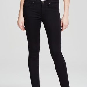 AG Stevie Ankle Sateen Black Jeans, Size 27 (4)