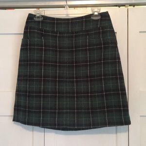 Plaid wool skirt
